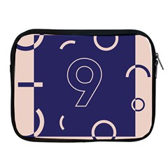 Number 9 Blue Pink Circle Polka Apple Ipad 2/3/4 Zipper Cases by Mariart