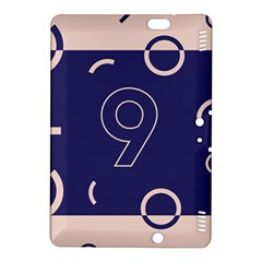 Number 9 Blue Pink Circle Polka Kindle Fire Hdx 8 9  Hardshell Case by Mariart