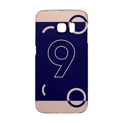 Number 9 Blue Pink Circle Polka Galaxy S6 Edge by Mariart