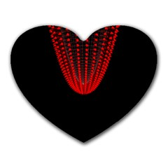 Normal Field Of An Elliptic Paraboloid Red Heart Mousepads by Mariart