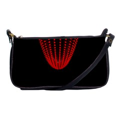Normal Field Of An Elliptic Paraboloid Red Shoulder Clutch Bags by Mariart