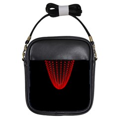 Normal Field Of An Elliptic Paraboloid Red Girls Sling Bags by Mariart