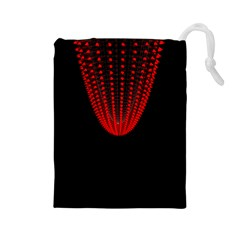 Normal Field Of An Elliptic Paraboloid Red Drawstring Pouches (large)  by Mariart