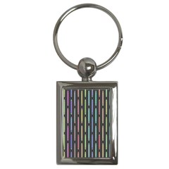 Pencil Stationery Rainbow Vertical Color Key Chains (rectangle)  by Mariart