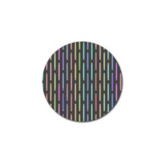 Pencil Stationery Rainbow Vertical Color Golf Ball Marker by Mariart