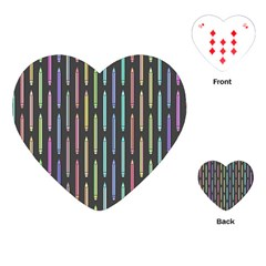 Pencil Stationery Rainbow Vertical Color Playing Cards (heart)  by Mariart