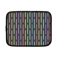 Pencil Stationery Rainbow Vertical Color Netbook Case (small)  by Mariart