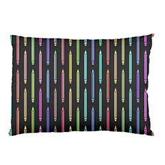 Pencil Stationery Rainbow Vertical Color Pillow Case by Mariart