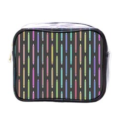 Pencil Stationery Rainbow Vertical Color Mini Toiletries Bags by Mariart