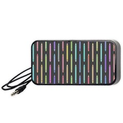 Pencil Stationery Rainbow Vertical Color Portable Speaker (black) by Mariart