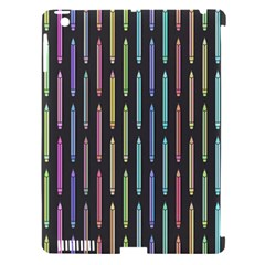Pencil Stationery Rainbow Vertical Color Apple Ipad 3/4 Hardshell Case (compatible With Smart Cover) by Mariart