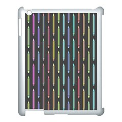 Pencil Stationery Rainbow Vertical Color Apple Ipad 3/4 Case (white) by Mariart