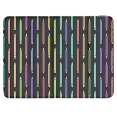 Pencil Stationery Rainbow Vertical Color Samsung Galaxy Tab 7  P1000 Flip Case by Mariart