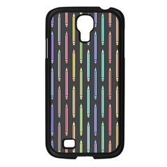 Pencil Stationery Rainbow Vertical Color Samsung Galaxy S4 I9500/ I9505 Case (black) by Mariart