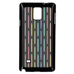 Pencil Stationery Rainbow Vertical Color Samsung Galaxy Note 4 Case (black) by Mariart