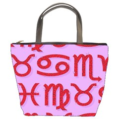 Illustrated Zodiac Red Purple Star Bucket Bags by Mariart