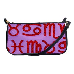 Illustrated Zodiac Red Purple Star Shoulder Clutch Bags by Mariart