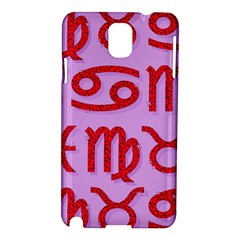 Illustrated Zodiac Red Purple Star Samsung Galaxy Note 3 N9005 Hardshell Case by Mariart