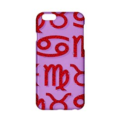 Illustrated Zodiac Red Purple Star Apple Iphone 6/6s Hardshell Case by Mariart