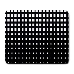 Plaid White Black Large Mousepads by Mariart