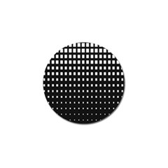 Plaid White Black Golf Ball Marker (10 Pack) by Mariart