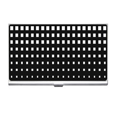Plaid White Black Business Card Holders by Mariart