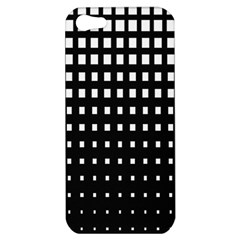 Plaid White Black Apple Iphone 5 Hardshell Case by Mariart