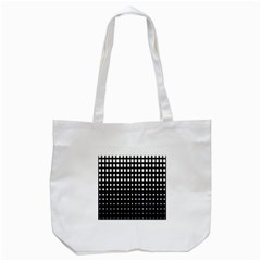 Plaid White Black Tote Bag (white) by Mariart