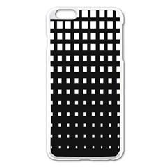 Plaid White Black Apple Iphone 6 Plus/6s Plus Enamel White Case by Mariart