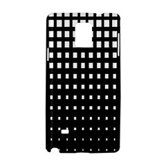 Plaid White Black Samsung Galaxy Note 4 Hardshell Case by Mariart