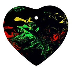 Colors Heart Ornament (two Sides) by Valentinaart
