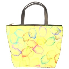 Watercolors On A Yellow Background           Bucket Bag by LalyLauraFLM