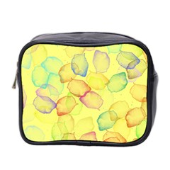 Watercolors On A Yellow Background                Mini Toiletries Bag (two Sides) by LalyLauraFLM