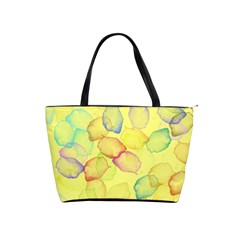 Watercolors On A Yellow Background                Classic Shoulder Handbag by LalyLauraFLM