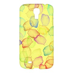 Watercolors on a yellow background          Apple iPad 3/4 Woven Pattern Leather Folio Case by LalyLauraFLM