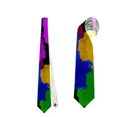 Colorful Strokes On A Black Background               Necktie by LalyLauraFLM