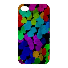 Colorful Strokes On A Black Background         Apple Iphone 4/4s Premium Hardshell Case by LalyLauraFLM