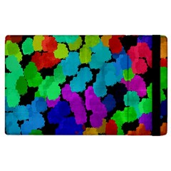 Colorful strokes on a black background         Kindle Fire (1st Gen) Flip Case by LalyLauraFLM