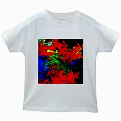 Colors Kids White T Shirts by Valentinaart