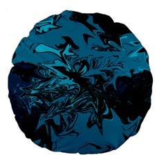 Colors Large 18  Premium Flano Round Cushions by Valentinaart