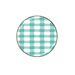 Plaid Blue Green White Line Hat Clip Ball Marker (4 Pack) by Mariart