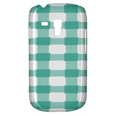 Plaid Blue Green White Line Galaxy S3 Mini by Mariart