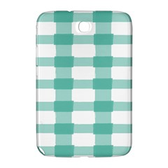 Plaid Blue Green White Line Samsung Galaxy Note 8 0 N5100 Hardshell Case  by Mariart
