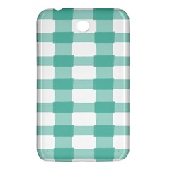 Plaid Blue Green White Line Samsung Galaxy Tab 3 (7 ) P3200 Hardshell Case  by Mariart