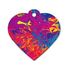 Colors Dog Tag Heart (two Sides) by Valentinaart