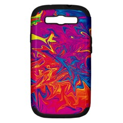 Colors Samsung Galaxy S Iii Hardshell Case (pc+silicone) by Valentinaart
