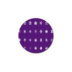 Purple Flower Floral Star White Golf Ball Marker (10 Pack) by Mariart