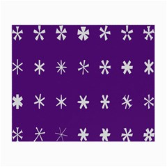 Purple Flower Floral Star White Small Glasses Cloth by Mariart