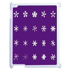 Purple Flower Floral Star White Apple Ipad 2 Case (white) by Mariart