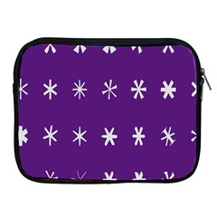 Purple Flower Floral Star White Apple Ipad 2/3/4 Zipper Cases by Mariart